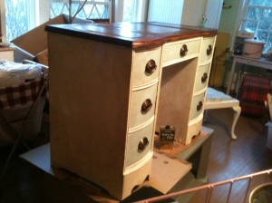Grandma's desk repainted